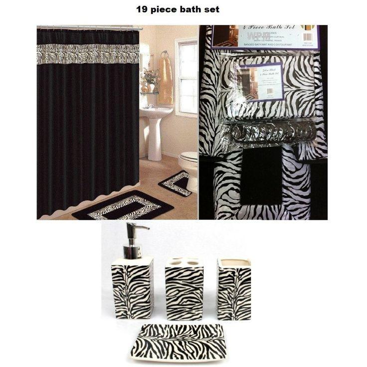 Best Bathroom Rug Sets Ideas On Pinterest Skull Decor - Black bathroom rug set for bathroom decor ideas