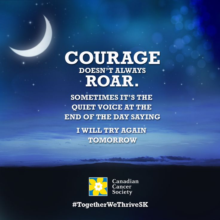 Courage doesn't have to roar... visit www.togetherwethrivesk.ca to join our community