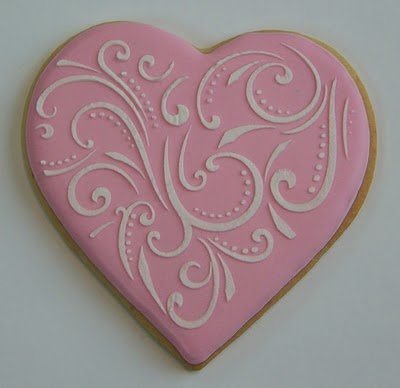 The Painted Cookie: A Valentine Stencil