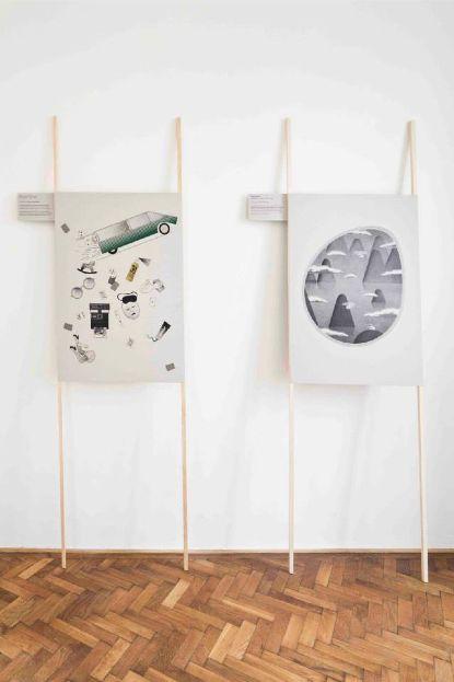 "Poster on Guy Rottier′s ""Maison de vacances volante"" project.Part of ""HABITUS/Tadeáš Podracký, Adam Štěch"" exhibitionColloredo-Mansfelds palace, Prague,8. 11. - 22. 12. 2013Big thanks to Adam Štěch."