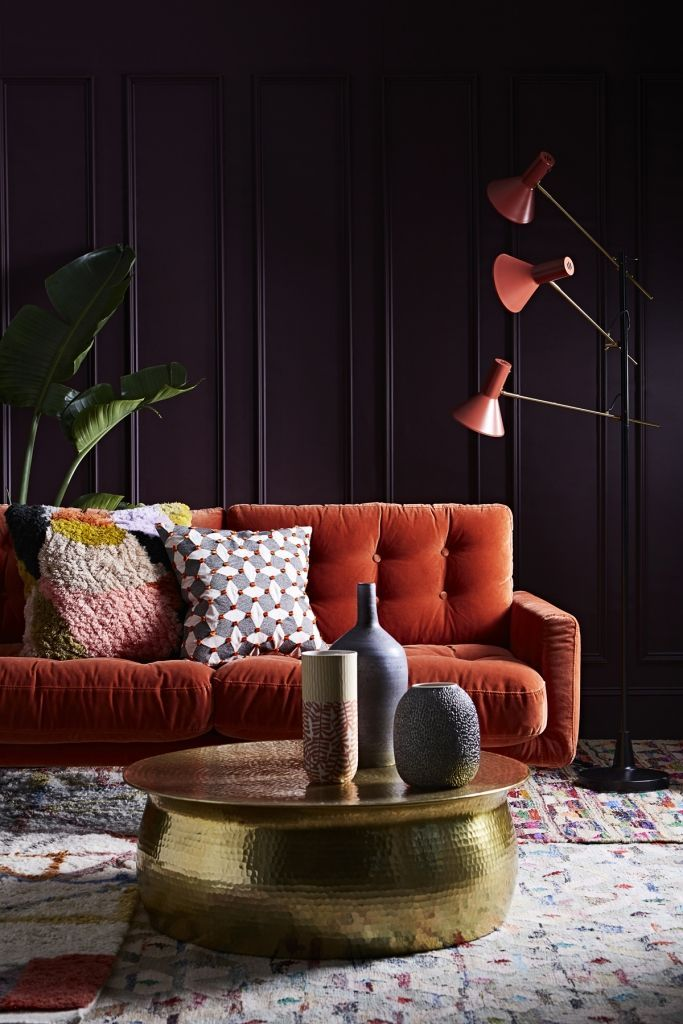 Are You An Autumn Personality Sophie Robinson Orange Sofa Living Room Orange Autumn Interior