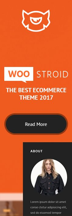 Incredible Monster, Which is Equipped with Power Builder, a Drag-and-Drop Layout Builder, WordPress Live Customizer and More Than 30 Unique Features, Will Definitely Turn One-Time Buyers into Regular Customers! Buy It Right Now & Make Your E-store Faster, Better and More User-Friendly - https://www.templatemonster.com/woocommerce-themes/woostroid.html