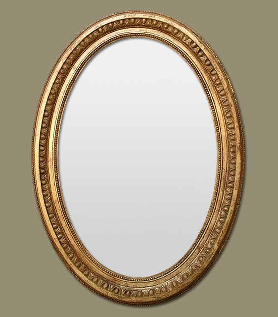 Miroir ancien ovale poque napol on 3 miroir miroir for Miroir napoleon