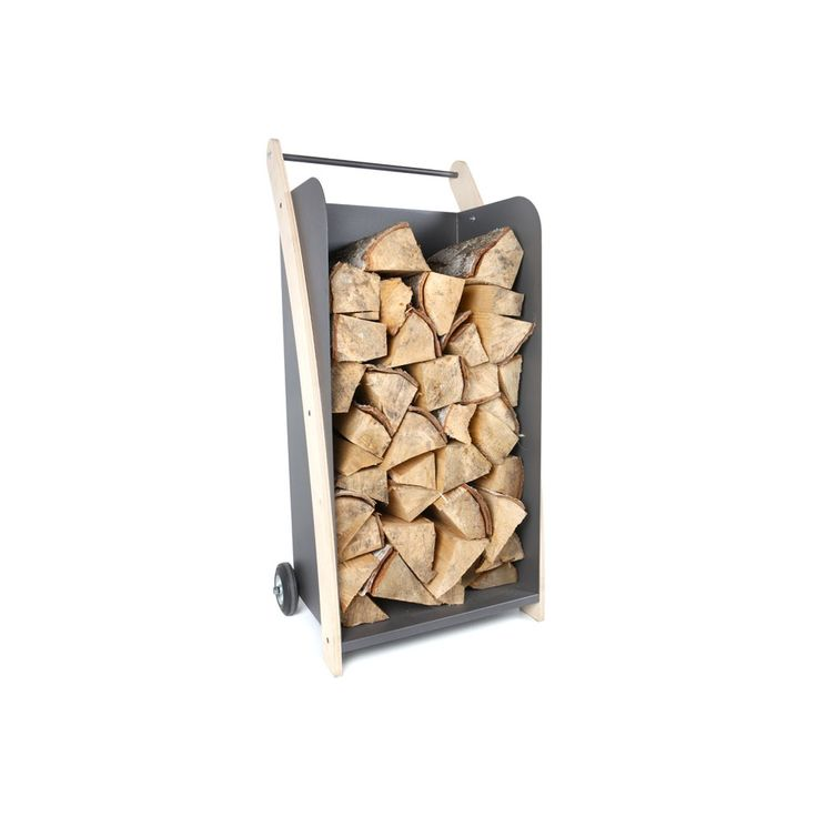 """Klon"" Cart for wood - Useful and stylish cart for storing firewood."