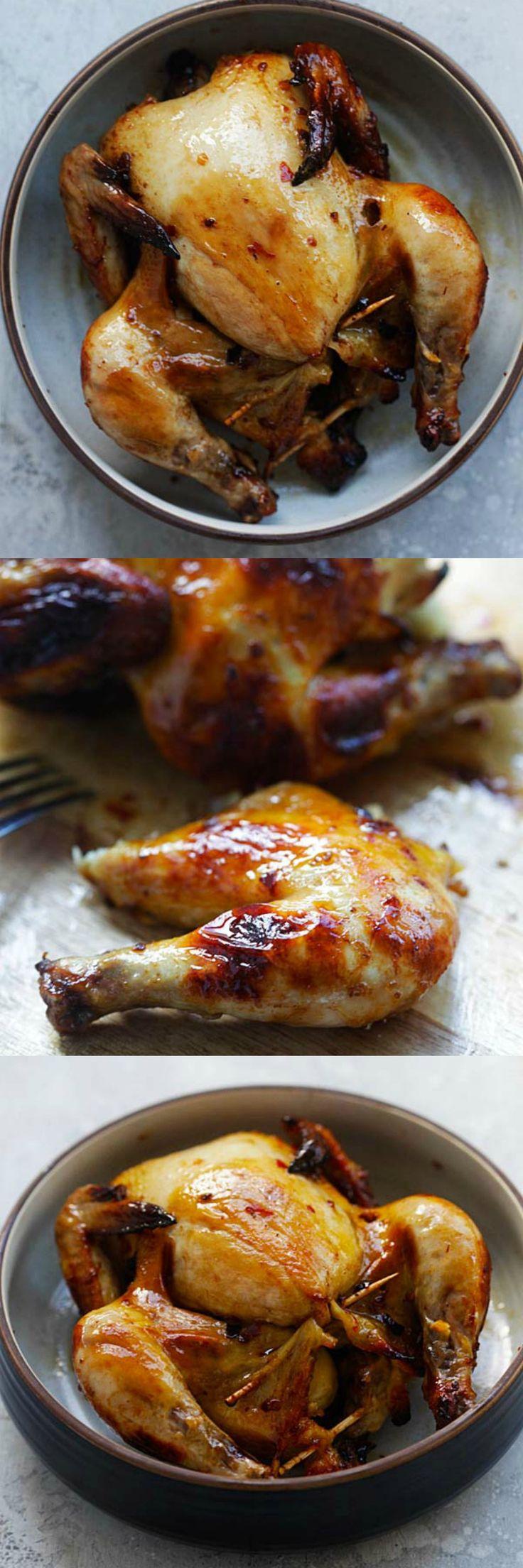 Spicy Honey Roasted Cornish Hen – tender, juicy and perfectly roasted Cornish Hen with honey and spices. So good you'll eat the whole bird | rasamalaysia.com