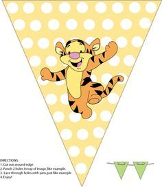 Banner, Winnie The Pooh, Party Decorations - Free Printable Ideas from Family Shoppingbag.com