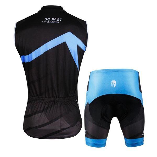 So Fast Men S Cycling Sleeveless Bike Jersey Suit T Shirt Summer