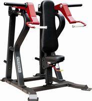Plate loading gymmaskiner, gymutrustning, gymgolv och vikter.