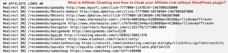 Updated: What is Affiliate Cloaking, How to #Cloak #Affiliate Link without #WordPress #plugin .htaccess redirection https://crunchify.com/what-is-affiliate-cloaking-and-how-to-cloak-your-affiliate-link-without-wordpress-plugin/