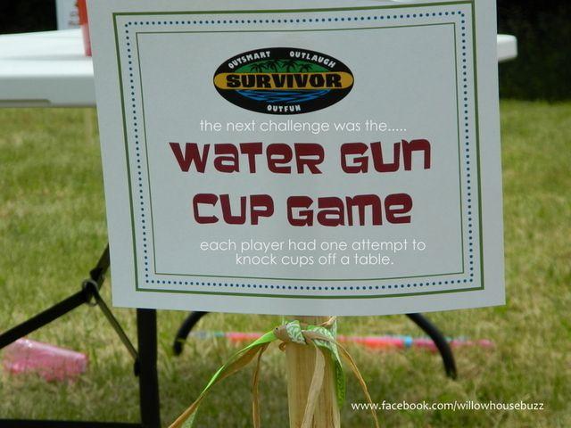 Water Gun Cup Game