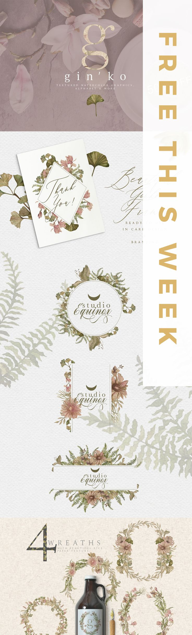 Digital resources, fonts, graphics, add-ons, templates and more for creative people! Find this Free for this week 05/03/2018 - 11/03/2018 on Creative Market.
