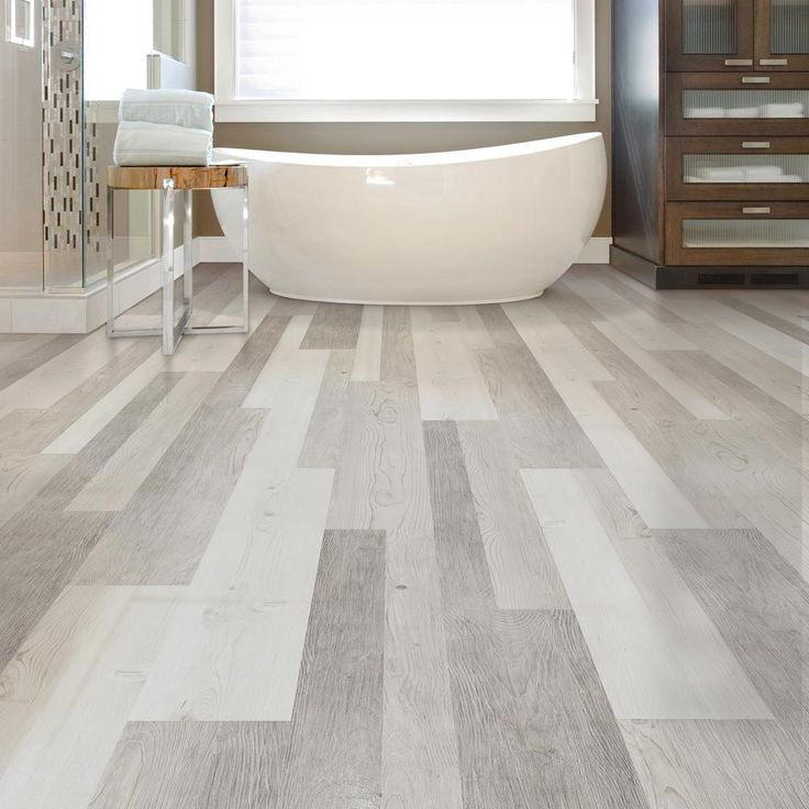 Lifeproof frosted oak multi width x 47 6 in luxury vinyl - Home depot bathroom tile installation cost ...