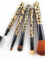 5pcs+nylon+haar+gouden+luipaard+ontwerp+handvat+cosmetische+make-up+borstel+set+–+EUR+€+6.85