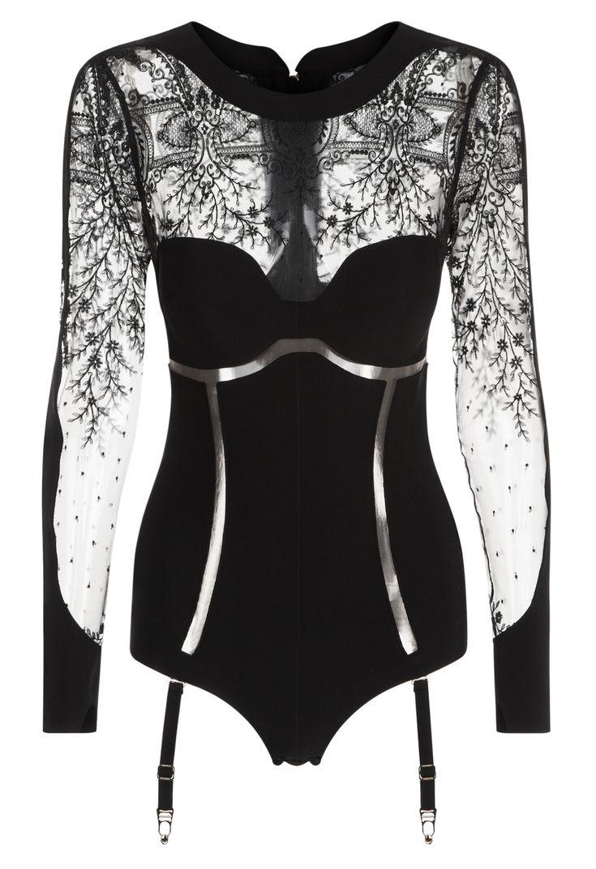LA PERLA   Bodysuit with suspender straps #laperlalingerie #lingerie