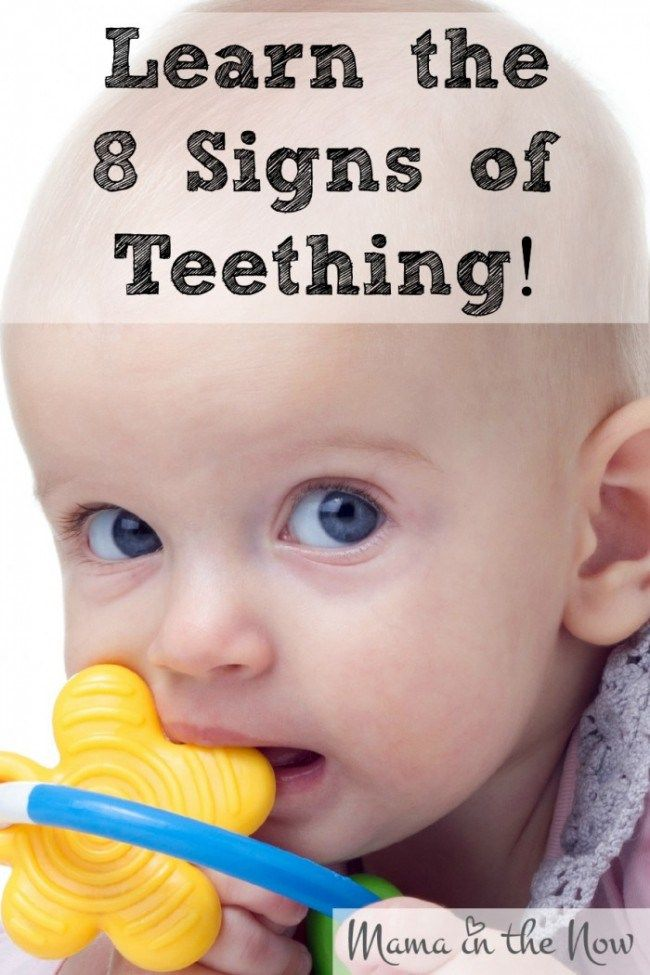Learn the 8 signs of teething. Once you know the signs you can comfort your baby much easier.