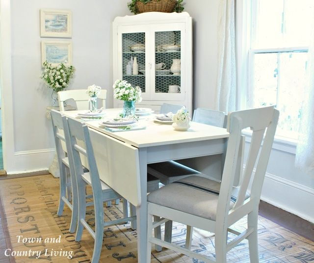 Chairs Are Paris Grey Over Duck Egg Blue