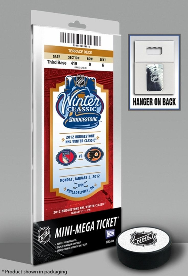2012 NHL Winter Classic Mini-Mega Ticket - Rangers Vs Flyers