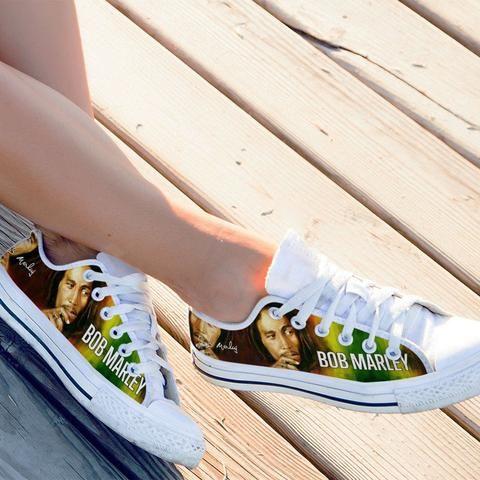bob marley ladies low cut sneakers
