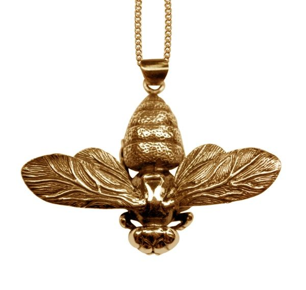 bee #pendant by #jewelry #designer Justine Brooks from #whistler # ...