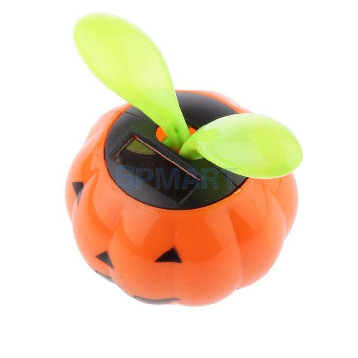 Cute Solar Powered Pumpkin Shape Flower Pot Flip Flap Leaf Dancing Toys