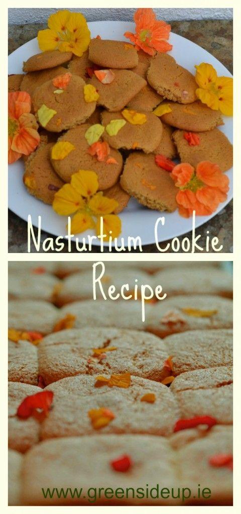Edible flowers - Nasturtium Cookie Recipe http://greensideup.ie/nasturtium-cookie-recipe/