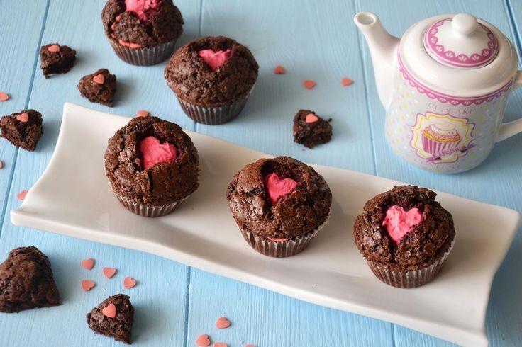 Muffin di San Valentino, scopri la ricetta: http://www.misya.info/ricetta/muffin-di-san-valentino.htm