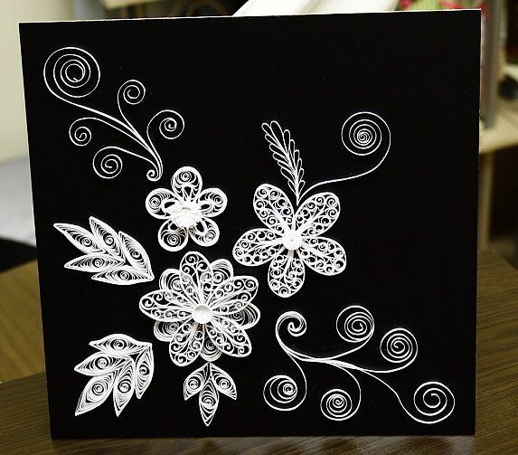 1000 Images About I Want Black Flowers On Pinterest: Papírvilág: Black And White Quilling / Fekete-fehér
