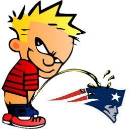 calvin peeing on patriots