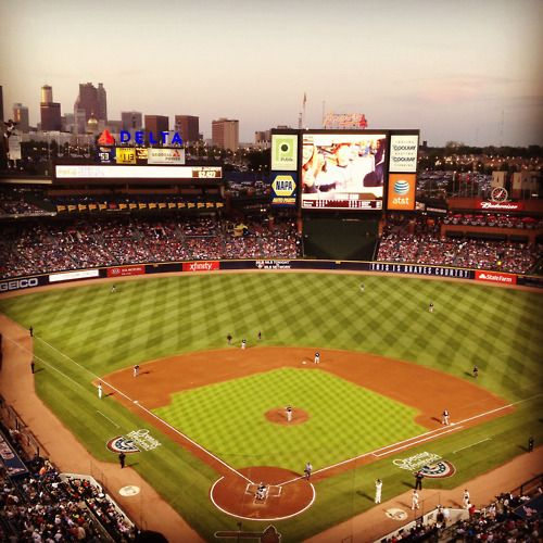 Turner Field on a beautiful April evening... I love me some Braves baseball