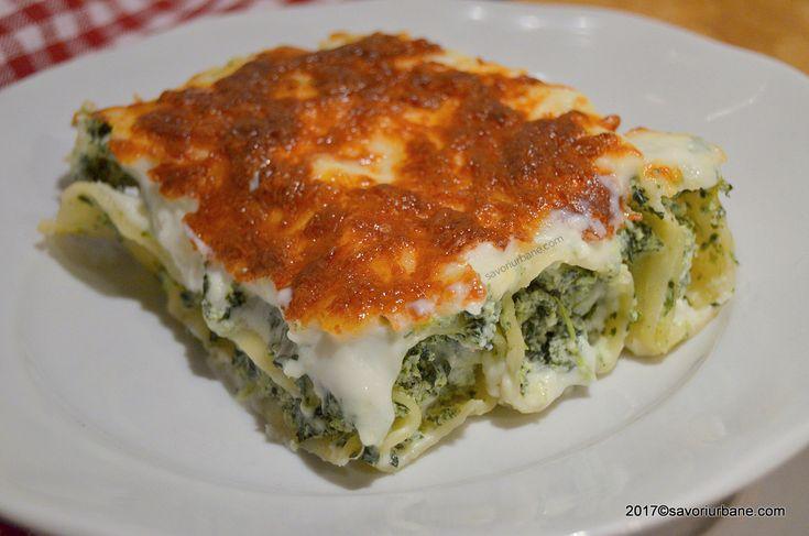 Cannelloni cu ricotta si spanac reteta clasica italiana. Paste la cuptor umplute cu branza si spanac, gratinate cu sos alb (Bechamel) si parmezan. O nebunie
