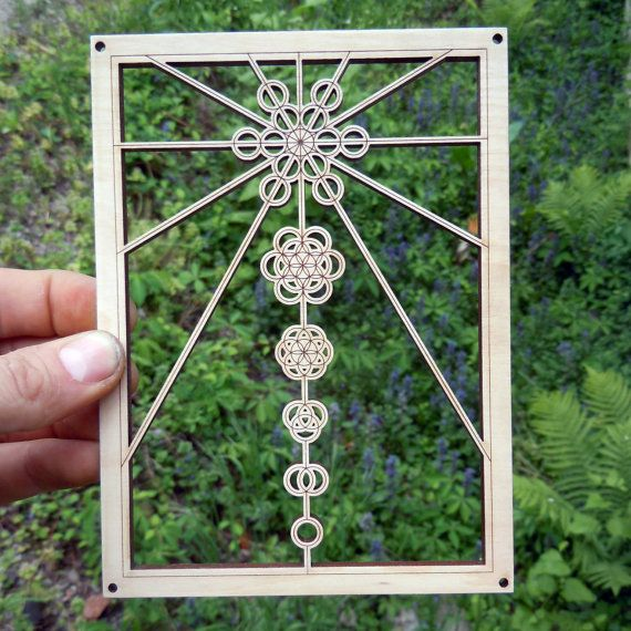Ascension  Sacred Geometry Wooden Wall Hanging by NakedGeometry