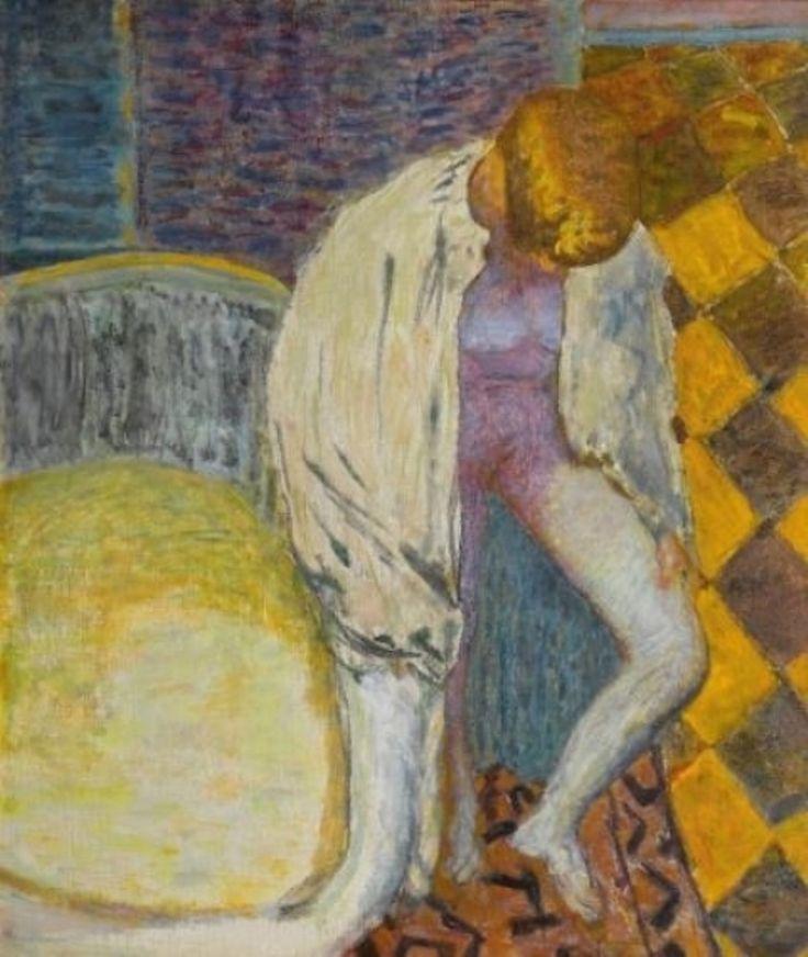 Pierre Bonnard. Femme sortant du bain 1925                                                                                                                                                                                 Plus