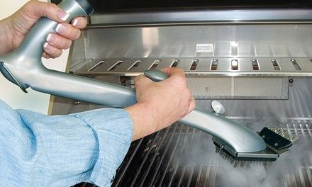 Grill brush allows you to easily and safely clean porcelain, steel, iron, or ceramic grill grates without the use of chemicals