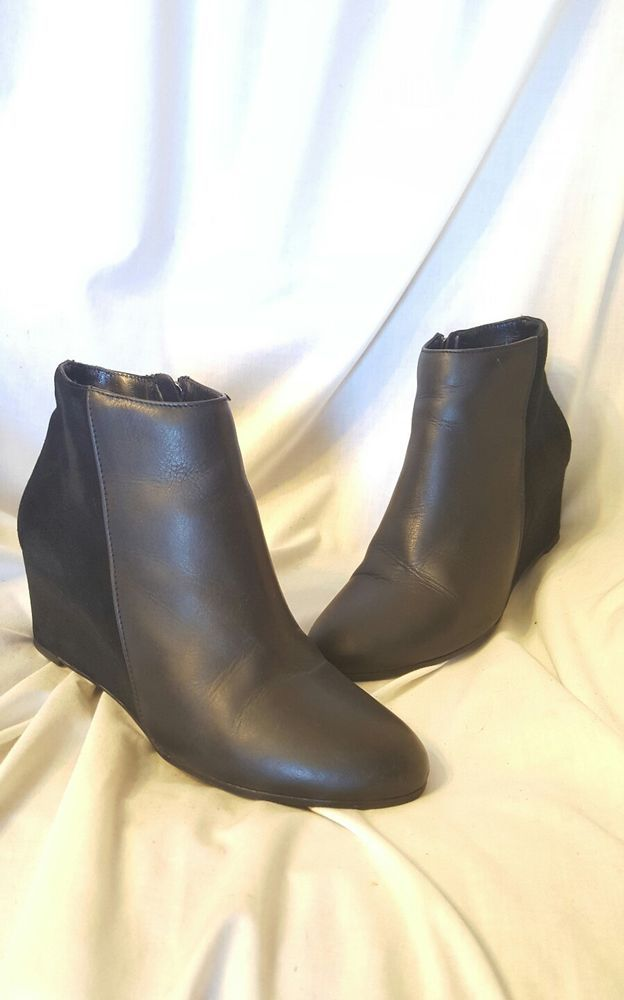 Aquatalia by Marvin K sz 7 women's booties Black suede leather wedge ankle boots | Clothing, Shoes & Accessories, Women's Shoes, Boots | eBay! SOLD