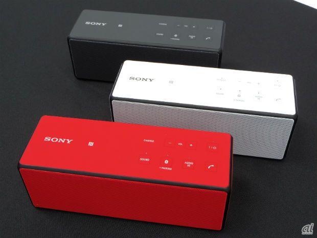 ソニー、すっきり小型しっかり重低音を実現したBluetoothスピーカ - CNET Japan
