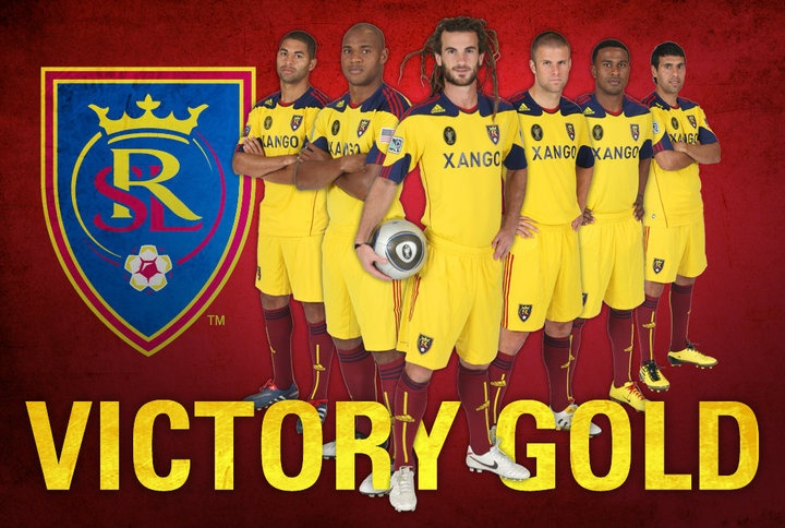 Real salt lake victory gold jersey! i so want one!