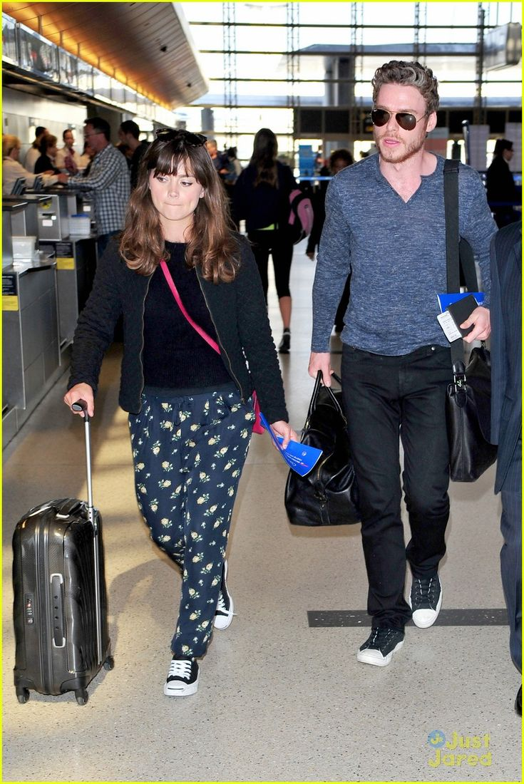 Jenna Coleman & Richard Madden: From LAX To London | jenna coleman richard madden lax to london 19. So cute couple.