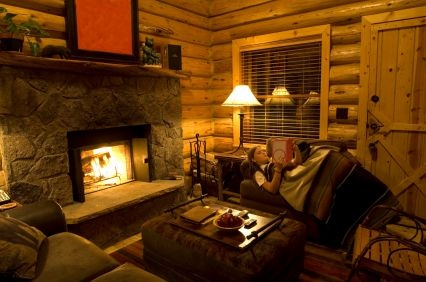 My idea of a perfect Friday night: Dreams Cabins, Living Rooms, Dreams Houses, Logs Cabins, Cabins Living, Logs Home Interiors, Rustic Cabins, Friday Night, Cabins Interiors