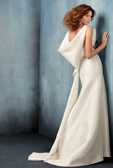 Modern, Structured Wedding Dress
