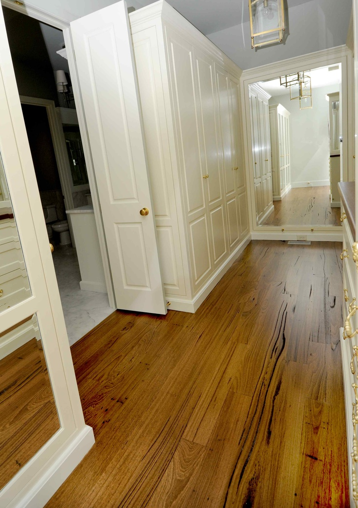 Australian Wormy Chestnut flooring with a Walnut stain.