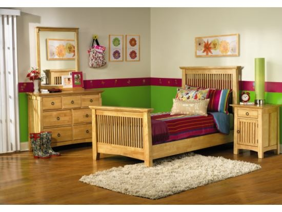 Arts crafts 5 pc natural bedroom package value city - Bedroom arts and crafts ideas ...