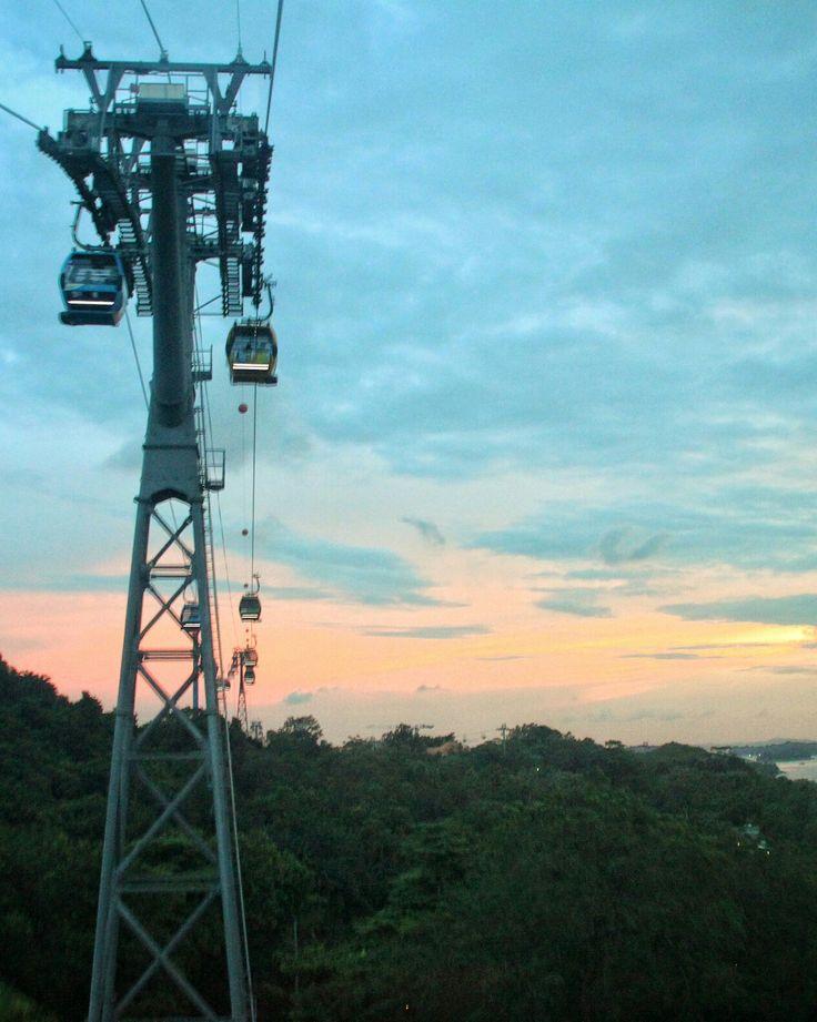 Cable Car at Sentosa Island.