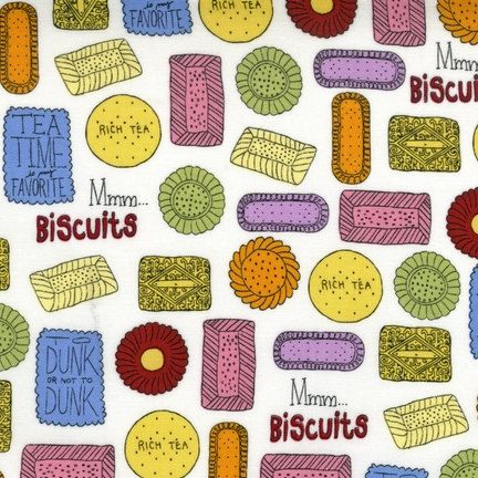 Metro Cafe Collection  Tea Biscuits  Pink by BelloBerryFabricShop, $8.25