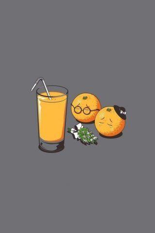 Orange Juice Funeral Funny iPhone SE Wallpaper
