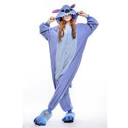 Kigurumi Pigiama Nuovo Cosplay / Stitch / Monster Calzamaglia/Pigiama intero Halloween Sleepwear Animal Blu Collage Pile Kigurumi Unisex