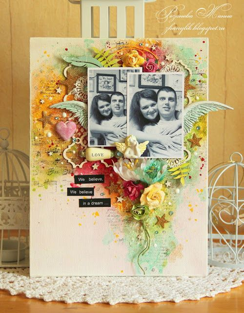 My Hobby: Коллаж на холсте и куча открыток :)