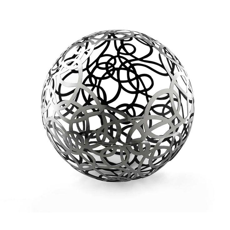 Calligramma Sphere, Giorgio Vigna for De Vecchi Milano 1935 #silver #limitededition #sculpture #centrepiece #table #yarn