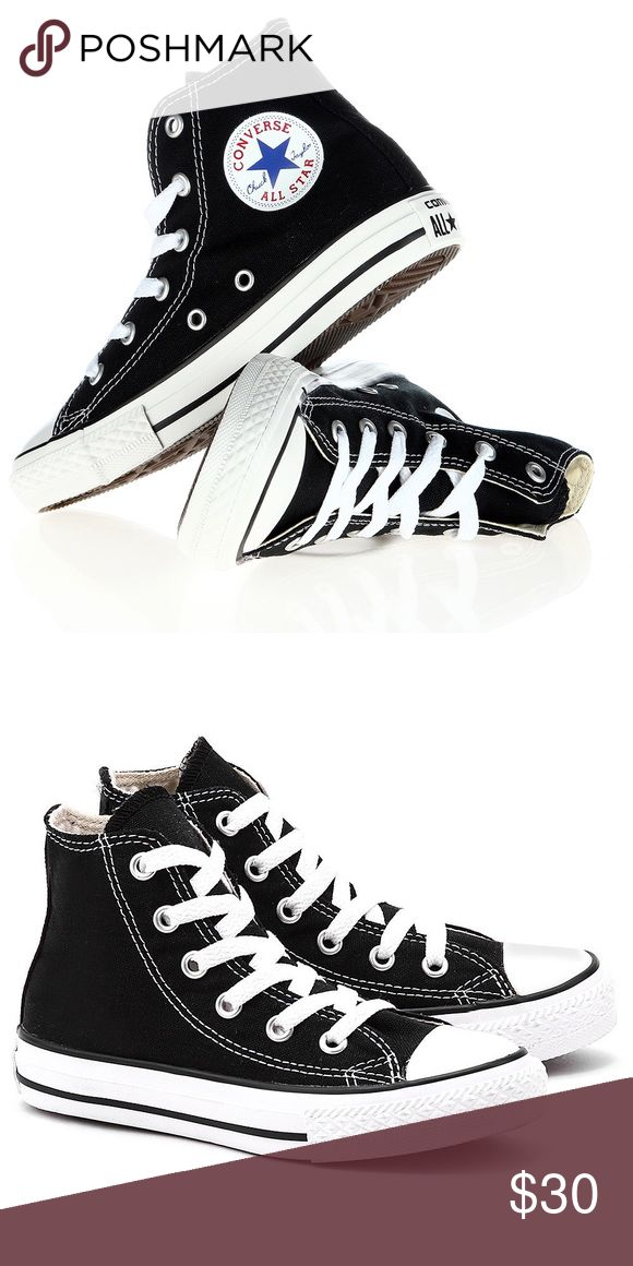 🎉FLASH SALE🎉 CONVERSE BLACK SHOES KIDS YOUTH Brand new without box. Youth size 1. Ships same day or very next Converse Shoes Sneakers
