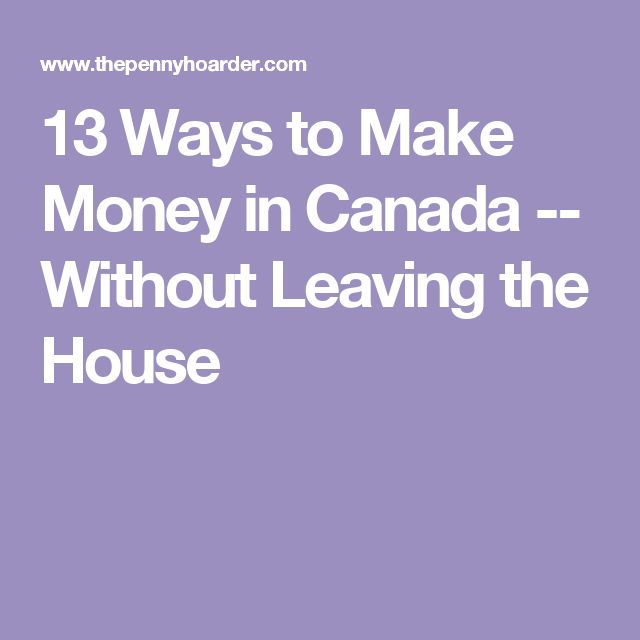 how to earn money from home in canada
