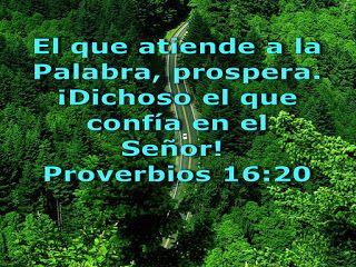 Resultado de imagen para proverbios 16:20